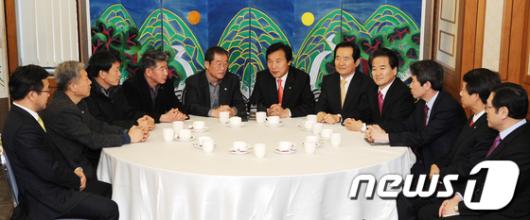 [사진]야권대통합을 위한 민주당-한국노총 회동