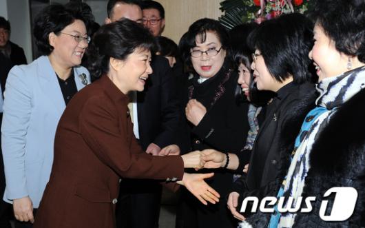 [사진]신년 인사나누는 박근혜