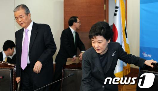 [사진]한나라당 신년 첫 비상대책위원회