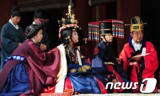 [사진]조선시대 종묘 알현 의례(모현례) 재현행사