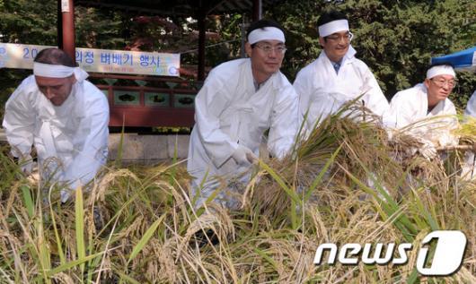 [사진]2012 창의정 벼베기 행사