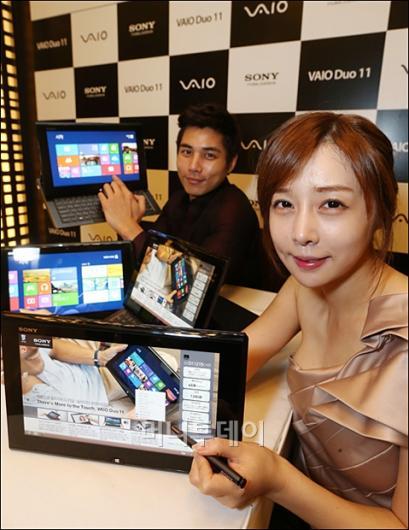 [사진]소니코리아, 슬라이더 하이브리드 PC '바이오듀오11' 출시
