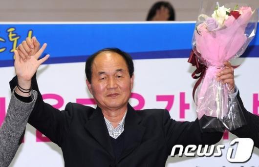 [사진]진보진영 단일후보 선출된 이수호