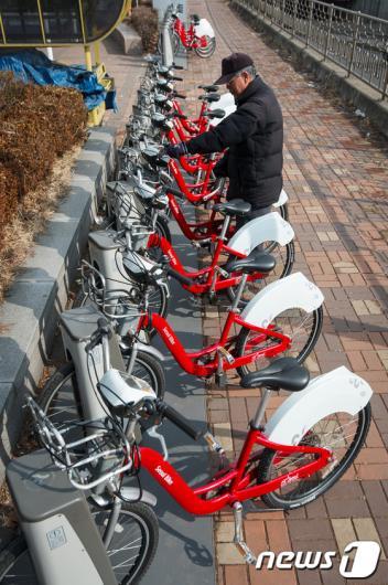 [사진]서울 공공자전거 겨울철 운휴 끝!