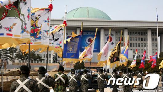 [사진]국회는 대통령 취임식 준비중