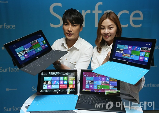 [사진]마이크로소프트, 태블릿PC '서피스' 출시