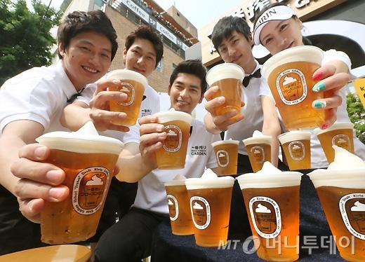 [사진]아이스크림의 모양의 맥주거품 '기린 이치방 프로즌 나마'