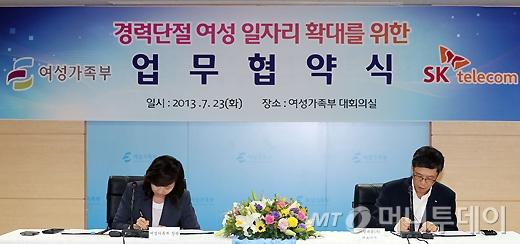 [사진]'경력단절 여성 일자리 확대를 위한 업무협약식'