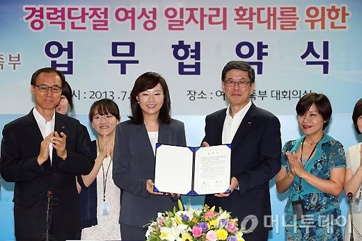 [사진]SKT, 고객센터 시간제 근무자 등 경력단절 여성 채용 지원