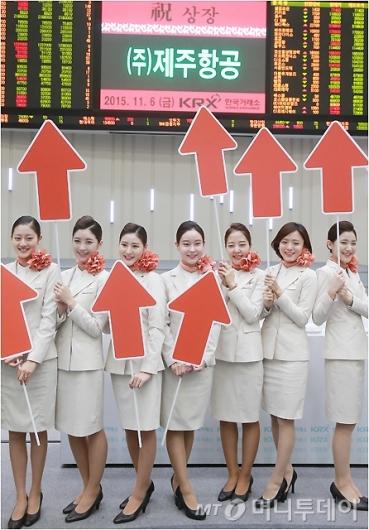 [사진]'제주항공 창립 10년만에 코스피 상장'