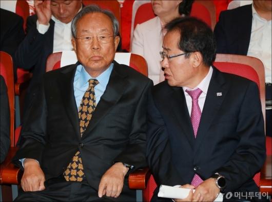 [사진]박관용 전 국회의장, 자유한국당 개헌 저지 시국강연회 참석