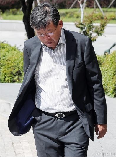 [사진]고개숙인 박상범 전 삼상전자서비스 대표