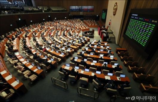 [사진]물관리기본법대안 국회 본회의 통과
