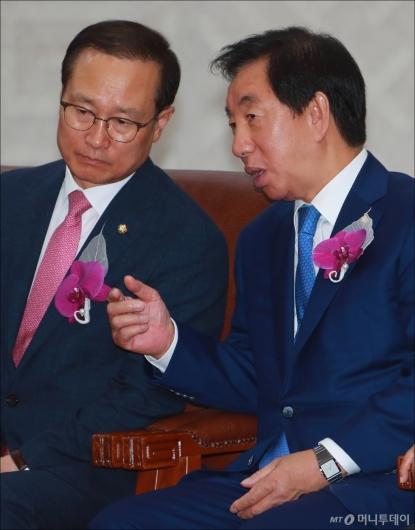 [사진]심각한 홍영표-김성태
