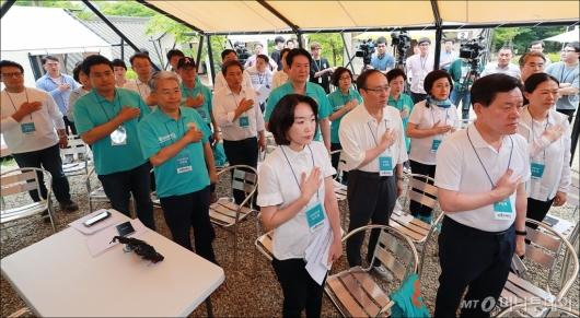 [사진]바른미래당 야영장 워크숍 개최