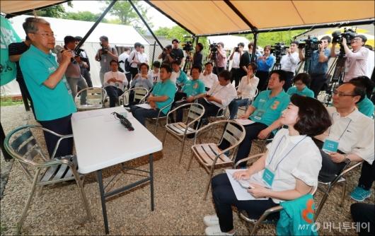 [사진]야영장 워크숍 개최한 바른미래당