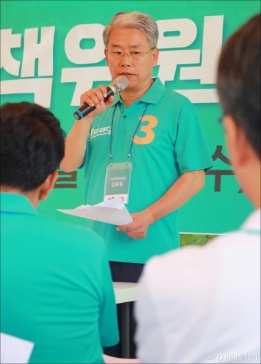 [사진]바른미래당 야영장 워크숍, 모두발언하는 김동철 비대위원장