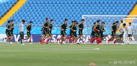 [사진]멕시코전 앞두고 공식 훈련