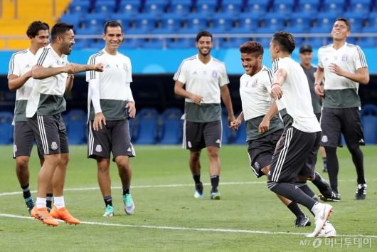 [사진]즐거운 멕시코 축구대표팀