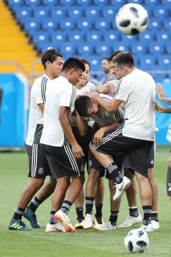 [사진]여유로운 멕시코 축구대표팀