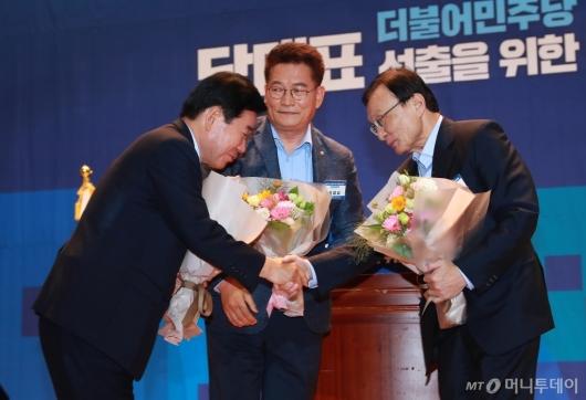 [사진]김진표-송영길-이해찬 '공명선거 합시다'