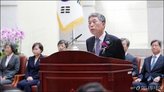 [사진]퇴임하는 김창석 대법관