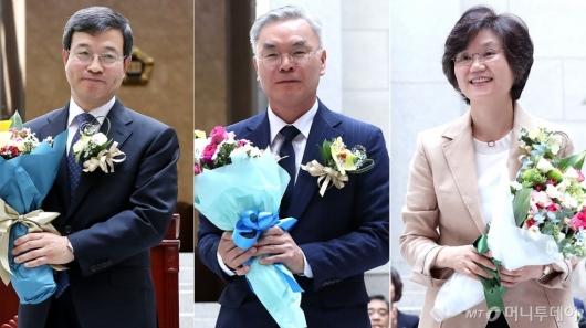 [사진]김선수 이동원 노정희 신임 대법관 취임