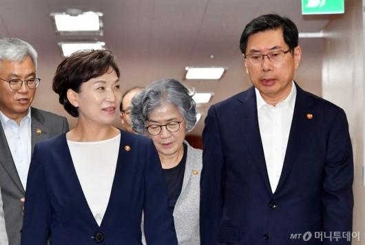 [사진]대화하는 김현미-박상기 장관