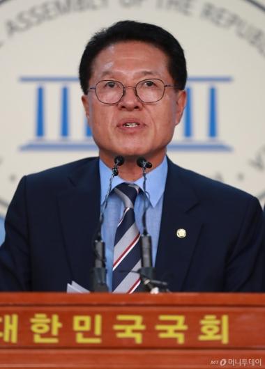 [사진]정운천, 바른미래당 대표 출마 선언