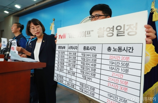[사진]추혜선 '드라마 현장, 20시간 이상 노동 비일비재'