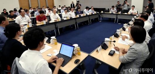 [사진]혁신성장관련 정부부처·기업·전문가 간담회