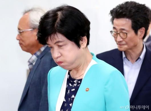 [사진]근심 가득한 김영주 장관