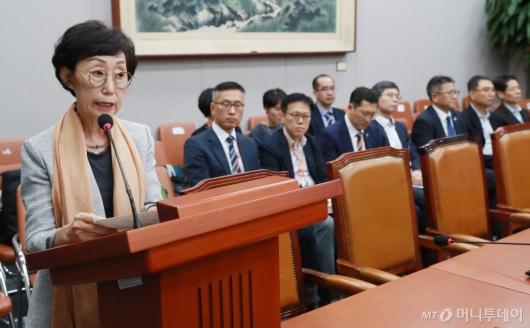[사진]최영애 인권위원장 후보자 인사청문회