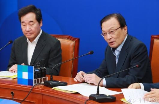 [사진]고위당·정·청 모두발언하는 이해찬 민주당 대표