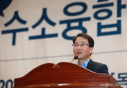 [사진]이원욱 의원, 수소융합얼라이언스 포럼 참석