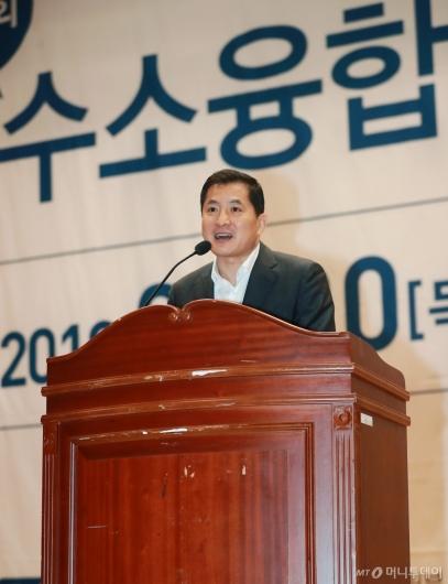 [사진]박대출 의원, 수소융합얼라이언스 포럼 참석