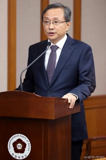 [사진]헌법재판소 국감 출석한 유남석 헌재소장