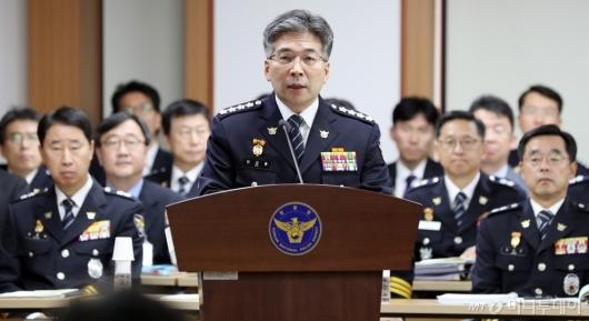 [사진]발언하는 민갑룡 경찰청장