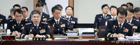 [사진]국회 행정안전위원회 경찰청 국정감사