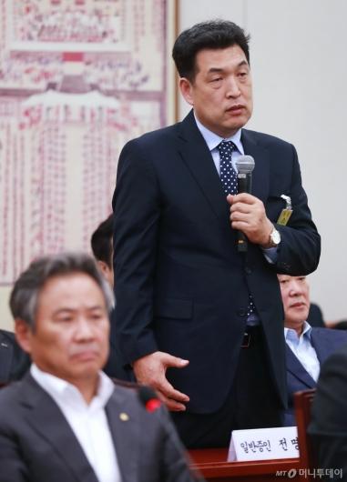 [사진]국감 출석한 전명규 전 빙상연맹 부회장