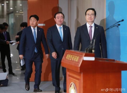 [사진]여·야4당 사법농단 특별재판부 설치 촉구...자유한국당은 불참