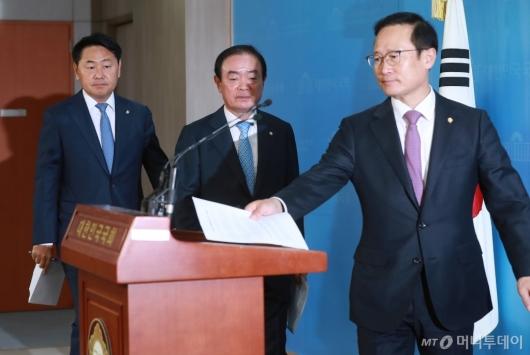 [사진]여·야4당 '사법농단' 특별재판부 설치 촉구