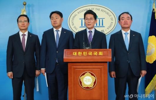 [사진]여·야4당, '양승태 대법원' 사법농단 특별재판부 설치 합의