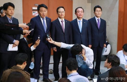 [사진]여·야4당 사법농단 특별재판부 설치 합의...자유한국당 불참
