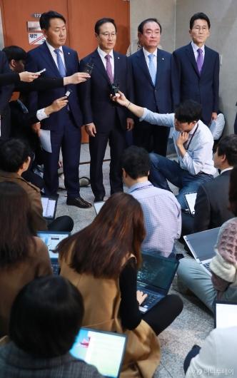 [사진]한국당 제외 여·야4당, 사법농단 특별재판부 설치 합의