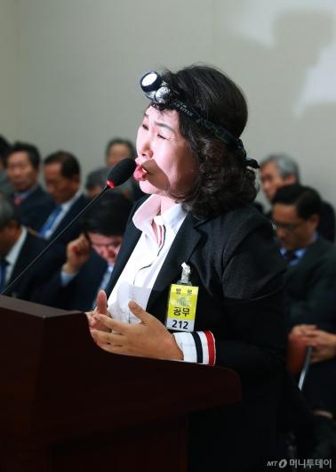 [사진]김용임 한유총 대외협력부장 '제도가 미비, 억울한 측면 있다'