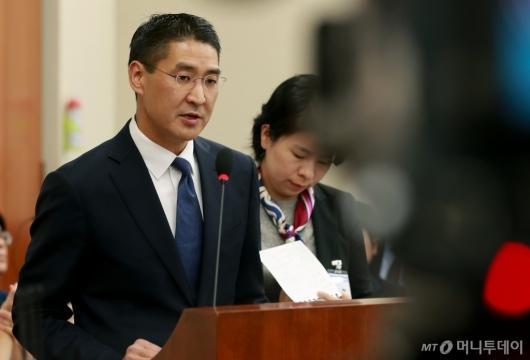 [사진]국감 증인 출석한 존리 구글코리아 대표