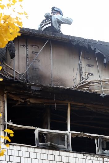 [사진]안타까운 종로 고시원 화재현장