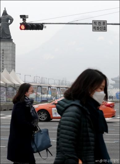 [사진]서울 미세먼지 '빨간불'