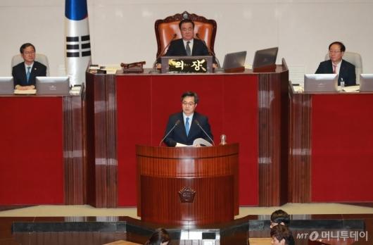 [사진]예산안 제안설명하는 김동연 경제부총리
